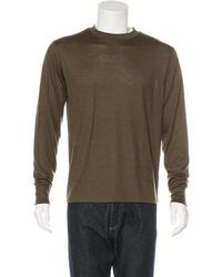 T By Alexander Wang - Long Sleeve Wool T-shirt Olive - Lyst