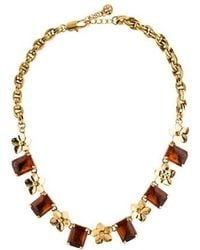 Tory Burch - Cecily Floral Collar Necklace Gold - Lyst