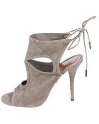 Aquazzura - Sexy Thing 85 Sandals Grey - Lyst