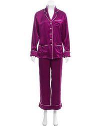 Olivia Von Halle - Silk Pajama Set - Lyst