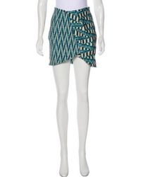 Ronny Kobo - Printed Mini Skirt - Lyst