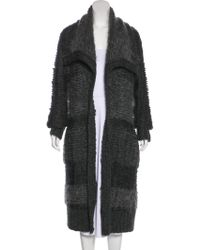 Donna Karan - Wool & Mohair-blend Cardigan W/ Tags Wool - Lyst