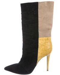 Narciso Rodriguez - Colorblock Pointed-toe Boots Black - Lyst