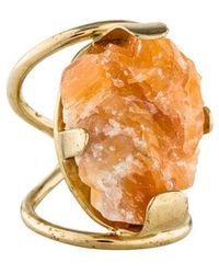 Elie Saab - Calcite Cocktail Ring Gold - Lyst