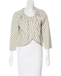 Vera Wang - Floral Embroidered Jacket - Lyst