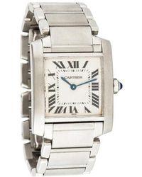 Cartier - Tank Française Watch White - Lyst