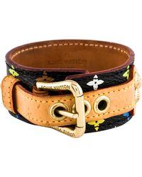 Louis Vuitton - Multicolor Theda Monogram Leather Bracelet Gold - Lyst