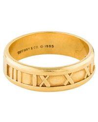 Tiffany & Co. - 18k Narrow Atlas Ring Yellow - Lyst