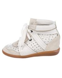 Isabel Marant - Betty Wedge Sneakers Neutrals - Lyst