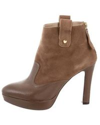 Love Moschino - Suede & Leather Ankle Boots - Lyst