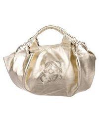 Loewe - Leather Handle Bag - Lyst