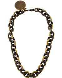 Stella McCartney - Collar Necklace Brass - Lyst