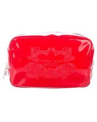 Christian Lacroix - Patent Leather Cosmetic Bag Gold - Lyst