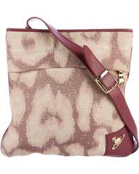 Vivienne Westwood - Leather-trimmed Crossbody Bag Beige - Lyst