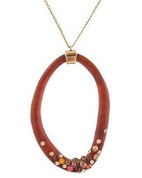 Alexis Bittar - Lucite & Crystal Pendant Necklace Gold - Lyst