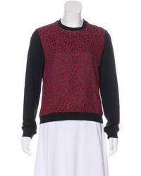 Carven - Lace Sweatshirt - Lyst