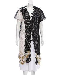 Fausto Puglisi - Embellished Lace Cardigan Black - Lyst