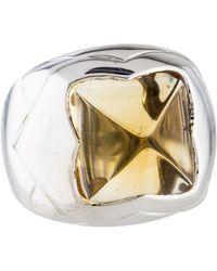 bvlgari 18k citrine pyramid ring white lyst