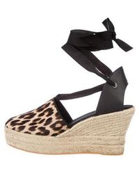 856852cd4c2 Lyst - Tory Burch Leather Flatform Sandals Tan in Natural
