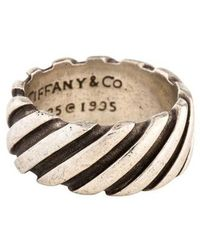 Tiffany & Co. - Grooved Ring Silver - Lyst