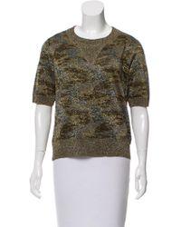 Isabel Marant - Wal Lurex Sweatshirt Olive - Lyst