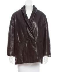 Étoile Isabel Marant - Oversize Leather Coat - Lyst