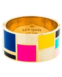 Kate Spade - Be Art And Part Of Idiom Bangle Gold - Lyst