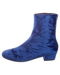 Dries Van Noten - Velvet Ankle Boots W/ Tags - Lyst