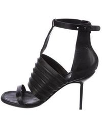 Rick Owens - Leather Ankle-strap Sandals - Lyst