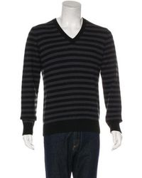 Louis Vuitton - Striped Cashmere Sweater Black - Lyst