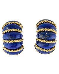 Seaman Schepps - 18k Lapis Shrimp Clip-on Earrings Yellow - Lyst