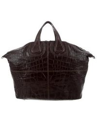 Givenchy - Embossed Nightingale Satchel Brown - Lyst