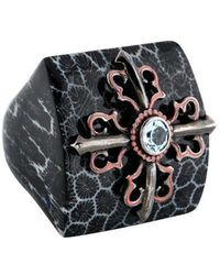 M.c.l  Matthew Campbell Laurenza - Topaz Resin Print Cocktail Ring Silver - Lyst