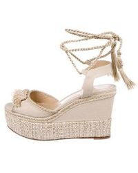 Paul Andrew - Patmos Wedge Sandals Beige - Lyst