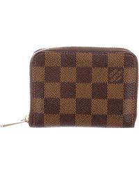 Louis Vuitton - Damier Ebene Zippy Coin Purse Brown - Lyst