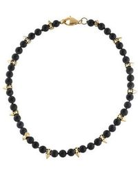 Fallon - Beaded Spike Necklace Gold - Lyst