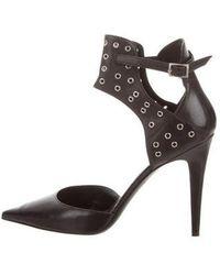 Tamara Mellon - Pointed-toe Ankle Strap Pumps Black - Lyst