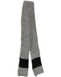 Étoile Isabel Marant - Open Knit Scarf Grey - Lyst