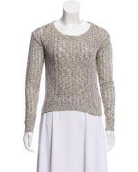 Peter Som - Open-knit Long Sleeve Sweater Grey - Lyst