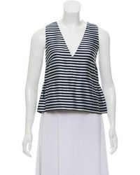 Elizabeth and James - Sleeveless Striped Top Navy - Lyst