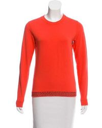 Lucien Pellat Finet - Embellished Skull Sweatshirt Orange - Lyst