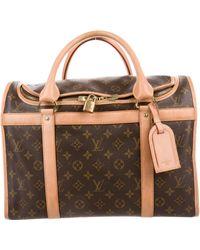 be30d4b2846f Lyst - Louis Vuitton Monogram Sac Chien 40 Pet Carrier Brown in Natural