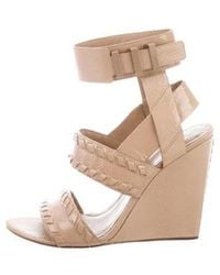 Alexander Wang - Patent Leather Round-toe Sandals Tan - Lyst