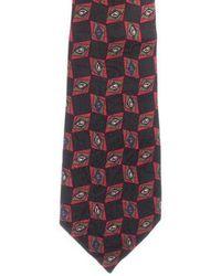 Chanel - Geometric Print Cc Silk Tie - Lyst