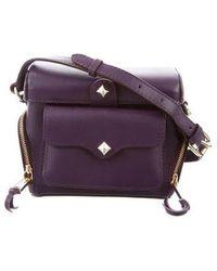 Rebecca Minkoff - Leather Crossbody Bag Purple - Lyst