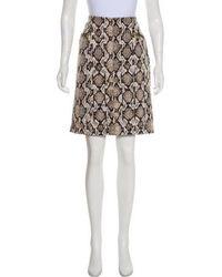 MICHAEL Michael Kors - Michael Kors Animal Print Knee-length Skirt - Lyst