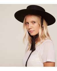 Reformation - Bijou Van Ness Black Hat - Lyst