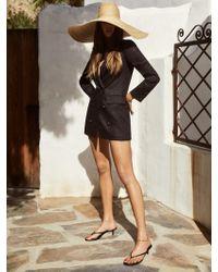 3632a164427 Lyst - Reformation Mint   Rose Sabine Lace Up Sandal in Black