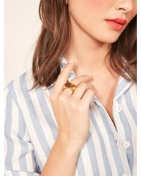 Reformation - Soko Oval Signet Ring - Lyst