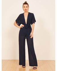 Reformation - Lemongrass Jumpsuit - Lyst